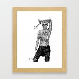 Rick Genest  Framed Art Print