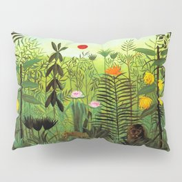 "Henri Rousseau ""Exotic Landscape with Lion and Lioness in Africa"", 1903-1910 Pillow Sham"
