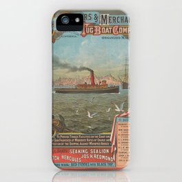 Ship Owners and Merchant Tug Boat Company,after 1882 iPhone Case