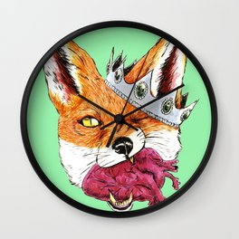 Queen Fox You Have My Heart Wall Clock