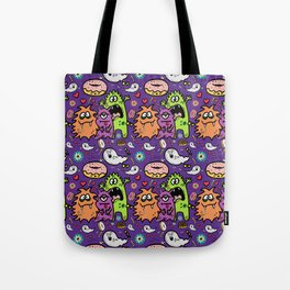Greedy Monsters Tote Bag