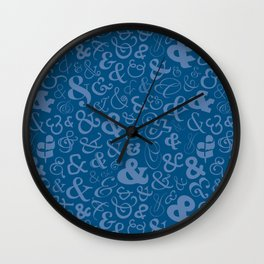 Ampersands - Blue Wall Clock