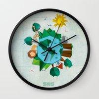 planet Wall Clocks featuring Planet by Design SNS - Sinais Velasco