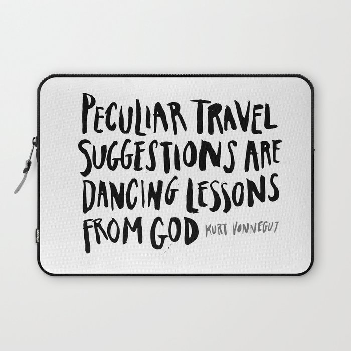 peculiar travel suggestions - kurt vonnegut Laptop Sleeve