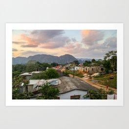 Village in Vinales Art Print