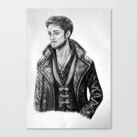 captain hook Canvas Prints featuring Captain Hook by Olivia Nicholls-Bates