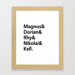 Book Princes White Framed Art Print