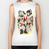 soul eater Biker Tanks featuring Soul Eater Meisters and Weapons 02 by renaevsart