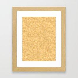 Woven Burlap Texture Seamless Vector Pattern Yellow Framed Art Print