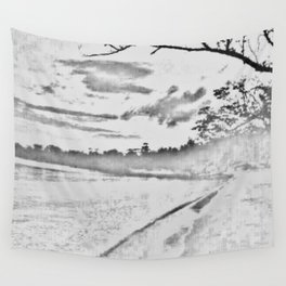 Jamaican Sunset Sketched Wall Tapestry