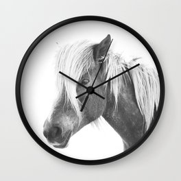Horse Print | Icelandic Rockstar Horse Wall Clock