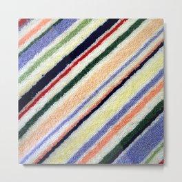 Colorful Terrycloth Stripe Metal Print