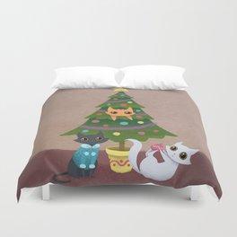 Meowy Christmas Duvet Cover