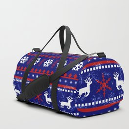 Christmas Reindeer Pattern Duffle Bag