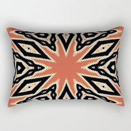 Aztec Orange Pattern Rectangular Pillow