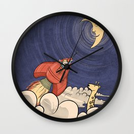 Happy Rocketeer Wall Clock