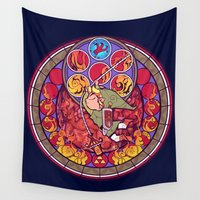 hook Wall Tapestries featuring Grappling Hook by NicoleGrahamART