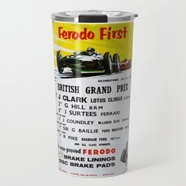 British Grand Prix, Silverstone, 1965, Vintage Poster, car poster Travel Mug