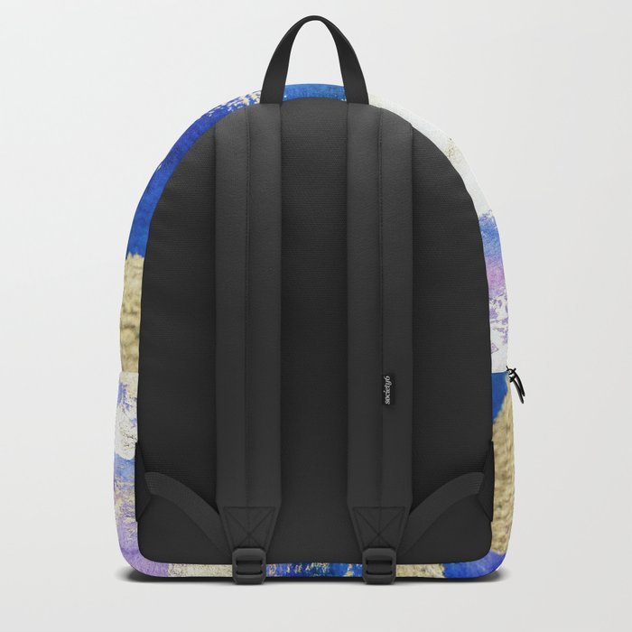 Gold Ocean Abstract Modern Design Backpack