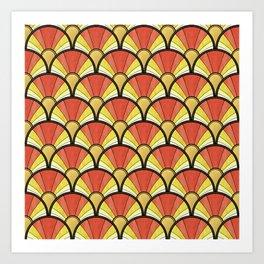 Radiant Sunshine Art Deco Pattern Art Print