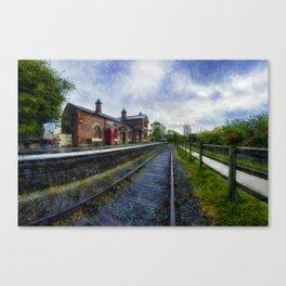 Olde Road Railway Station Canvas Print