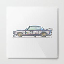 BMW E9 3.0 CSL Vector Illustration Metal Print