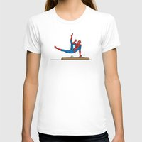 superhero T-shirts featuring Acrobatic Superhero by Fadhil Zubir