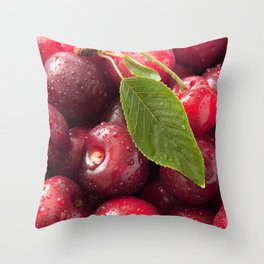 Taste of juicy cherries Throw Pillow