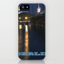 Berlin Night Skyline on the River Spree iPhone Case