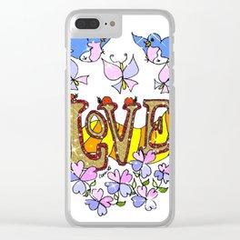 """Love"" Clear iPhone Case"