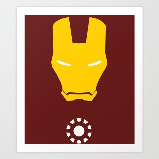 Iron Man Minimalist Art Print