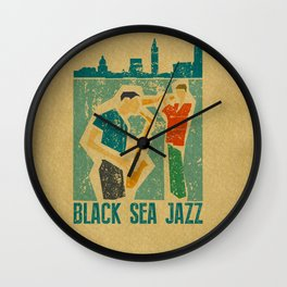 Black Sea Jazz Wall Clock