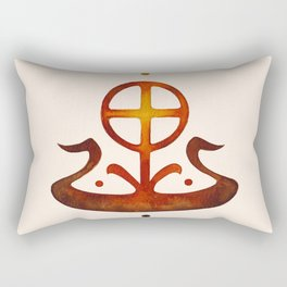 Summer Solstice - Solar Wheel Boat Rectangular Pillow