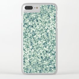 Clover shamrock leaf art, green leaves pattern Clear iPhone Case