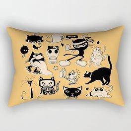 Cat Menagerie Rectangular Pillow