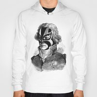 wrestling Hoodies featuring WRESTLING MASK 11 by DIVIDUS