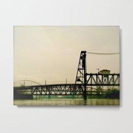 Portland Bridges by Seasons Kaz Sparks Metal Print