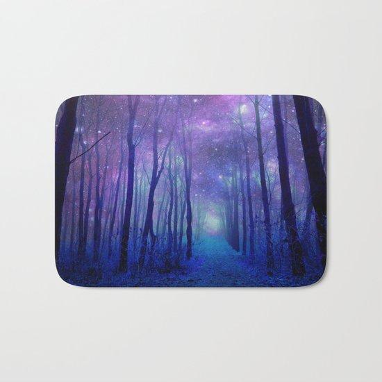 Fantasy Path Purple Blue Bath Mat