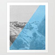 NEON NATURE | Blue Art Print