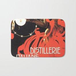 Vintage poster - Distillerie Italiane Bath Mat