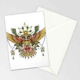 Sun Owl Stationery Cards