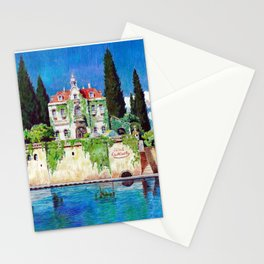 Hotel Adriano from the Ghibli film Porco Rosso Stationery Cards
