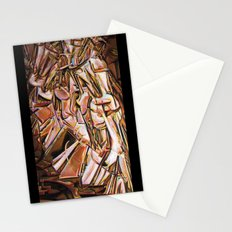 Study after Duchamp's Nude Descending a Staircase Stationery Cards