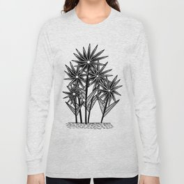 Spikey Pointy Flower Long Sleeve T-shirt