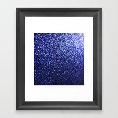 Royal Blue Glitter Sparkles Framed Art Print