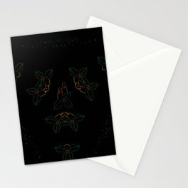 Continuous Christmas Candles Stationery Cards
