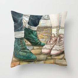 Brogues for a date Throw Pillow