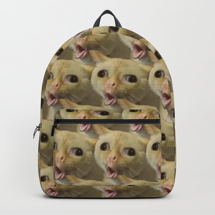 Coughing Cat Meme Pattern Backpack by racheltintedred ...