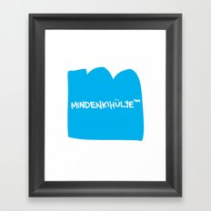 mindenkihülye™ blue Framed Art Print