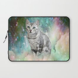 Purrsia Kitty Cat in the Emerald Nebula of Innocence Laptop Sleeve
